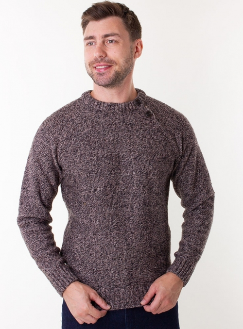 Men's brown woolen sweater