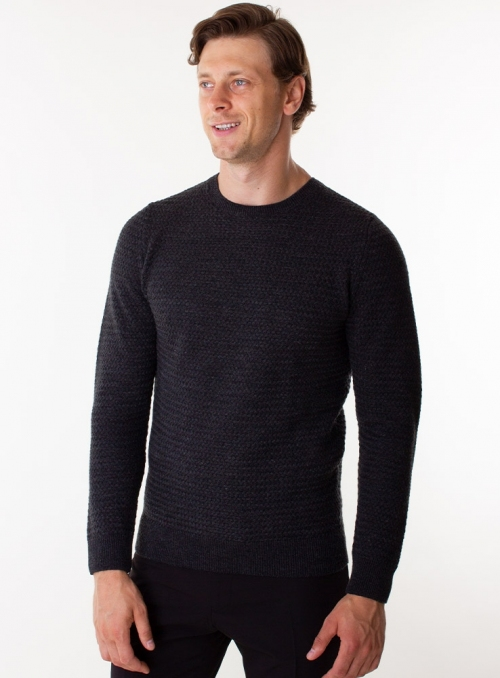 Men's grey wool sweater