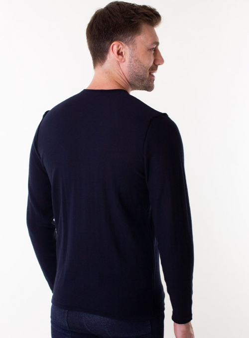 Men's black jumper in a fine knit