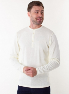 Men's milk jumper in a fine knit