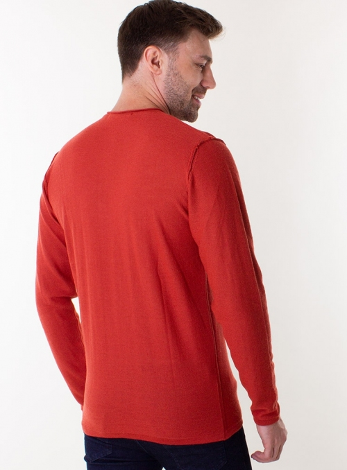 Men's rusty jumper in a fine knit