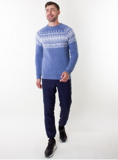 Men's jeans sweater in volumous knit
