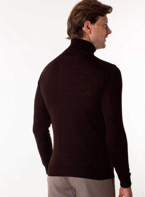 Men's mustard rollneck in a fine knit
