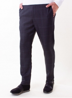 Men's grey check trousers