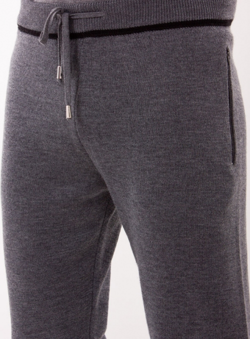 Trousers knitted black