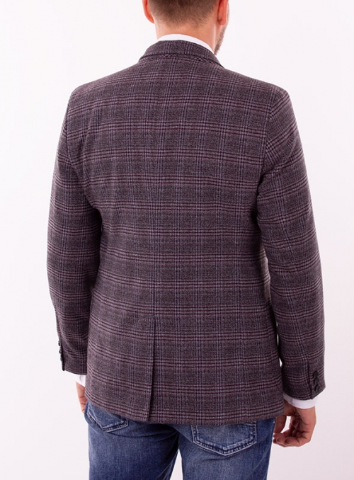 Men's cashmere grey check jacket
