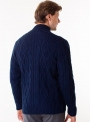 Men's knitted sweater with zippers