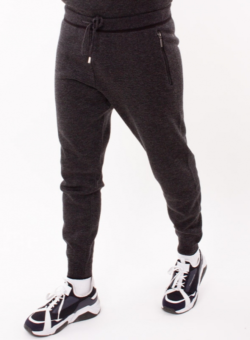 Trousers knitted gray