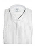 White classic shirt with a strip