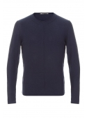 Sweater Knitted Blue Cotton