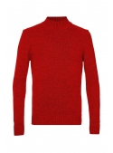 Sweater knitted red