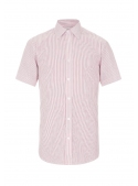 White classic shirt in red stripes