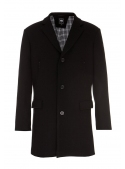 Male coat black woolen